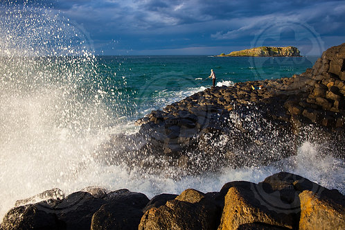 Fishing at Fingal Head