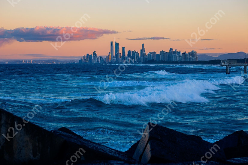 Gold Coast skyline viewed from the Spit