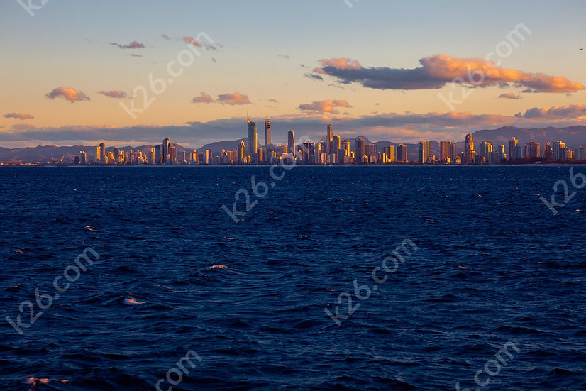 Gold Coast skyline from the Coral Sea