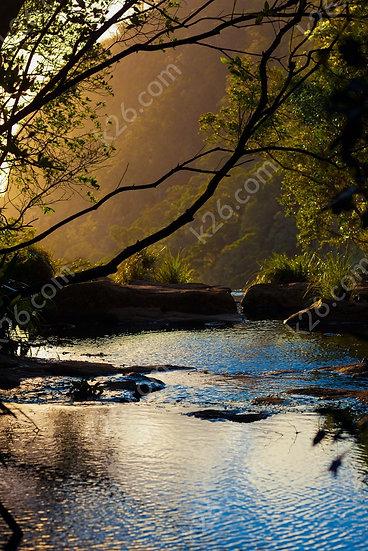 Moran Falls at sunset