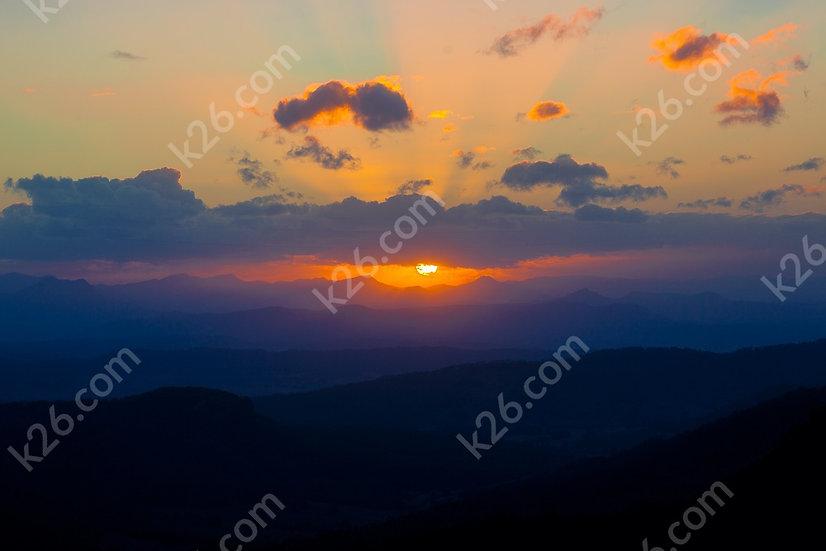 Hinterland sunset