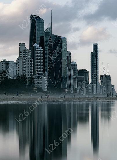 Dark Gold Coast skyline
