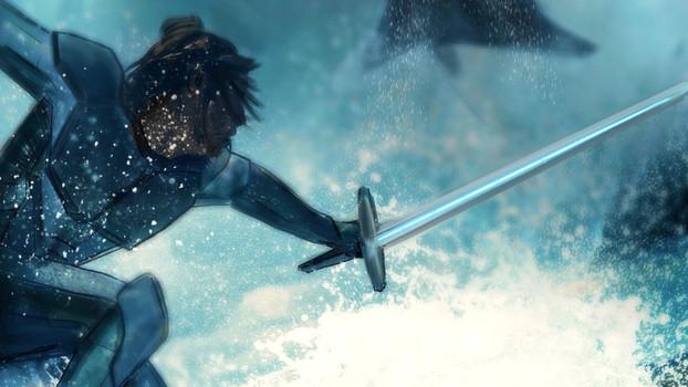 Duel on the ocean floor