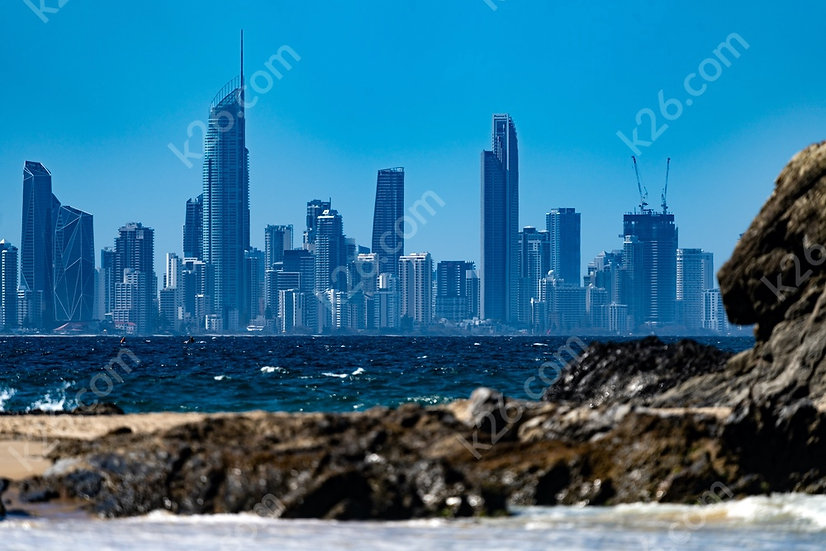 Surfers Paradise from Currumbin