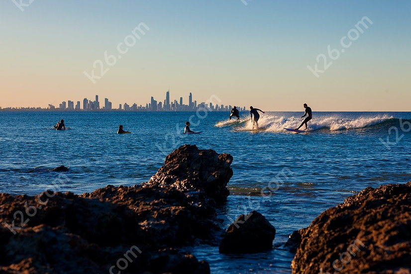 Surfers and Surfers Paradise