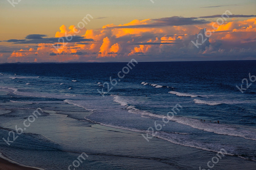 The Sun sets over the Coral Sea
