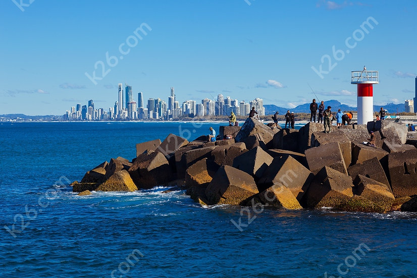 The Spit with Surfers Paradise in the background