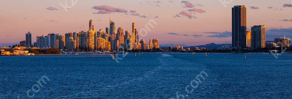 Skyline viewed from the Broadwater