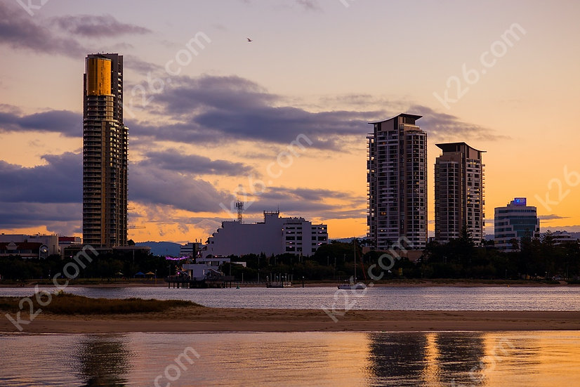 Southport at sunset