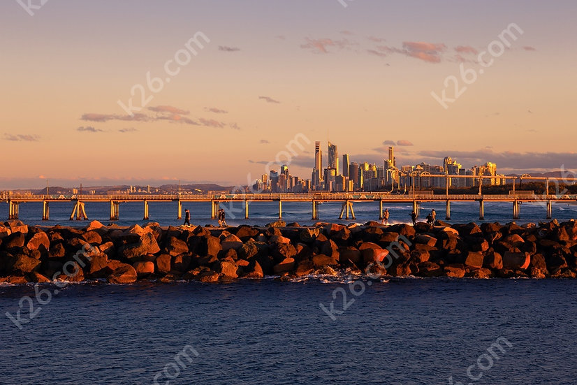 Gold Coast skyline from the seaway