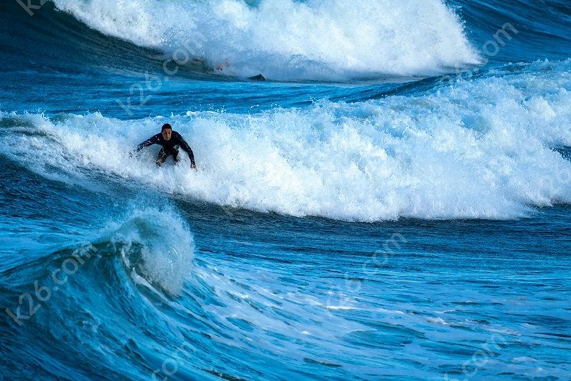 Surfer at the Spit