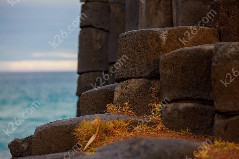 Basalt columns up close
