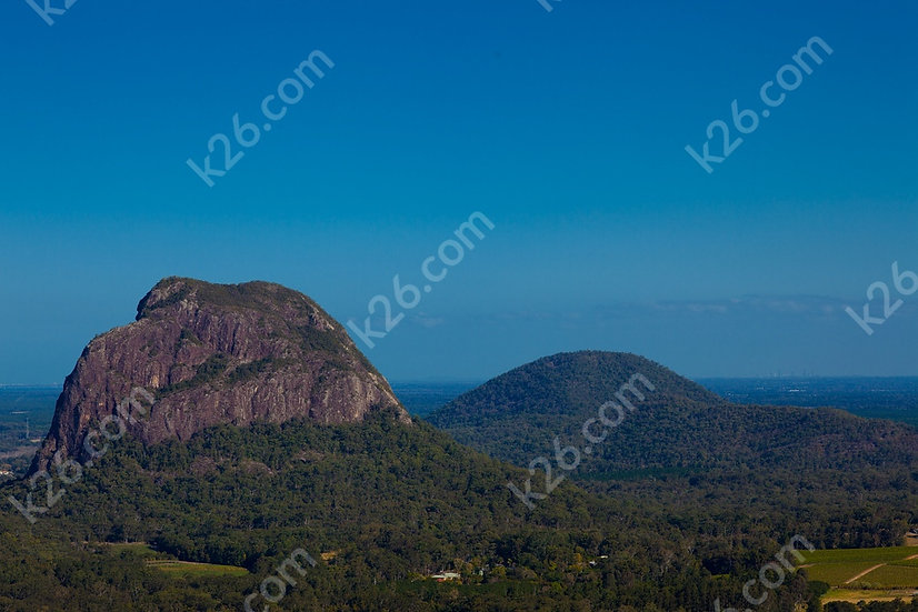 Brisbane from the Glasshouse Mountains