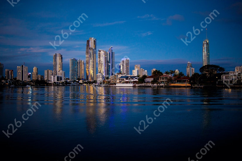 Surfers Paradise skyline (river view)
