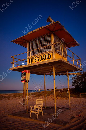 Lifeguard Tower at sunset
