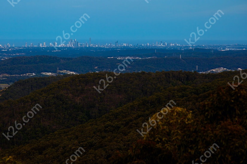 Skyline viewed from the Hinterland