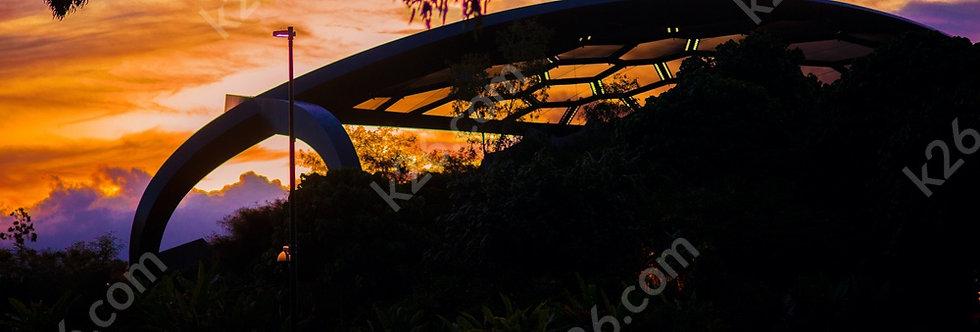 Sunset over Evandale Parklands