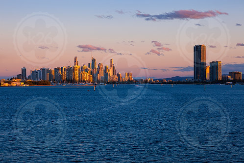 Gold Coast skyline viewed from the Broadwater