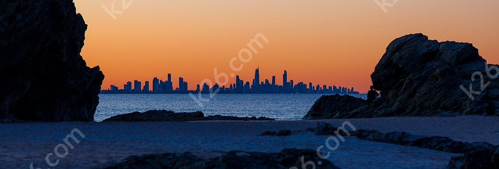 Twilight view of Surfers Paradise
