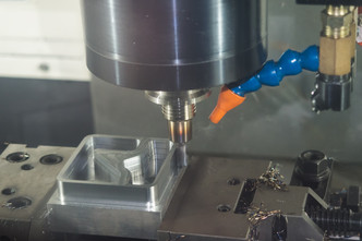 machining precision part by CNC machinin
