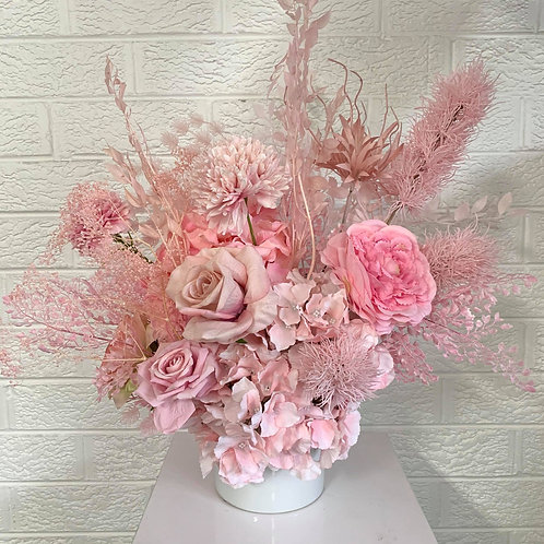 Pink Shades in White Vase