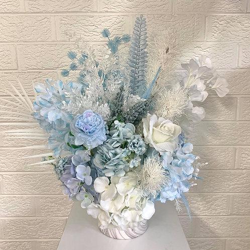 Soft Blues & Marble Vase