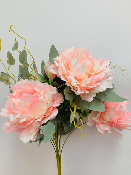 Peony Old Rose Pink (Bunch Of 7)