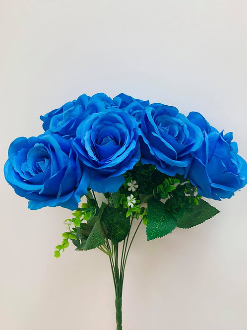 Lucia Blue Rose (Bunch Of 10)