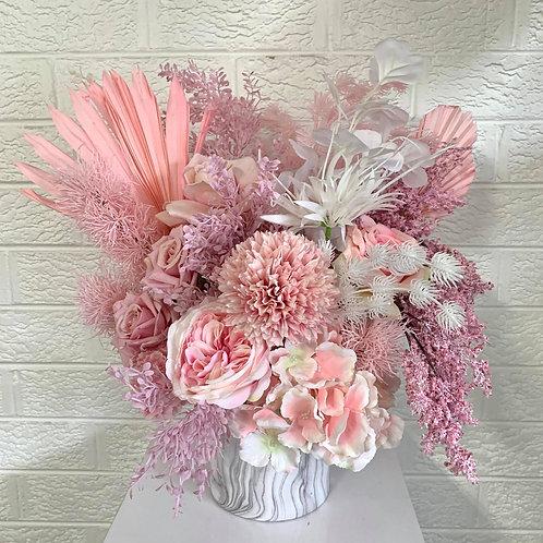 Pretty Soft Pinks & Marble Vase