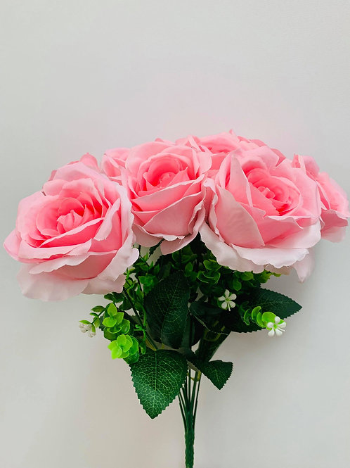 Lucia Blush Pink Rose (Bunch Of 9)