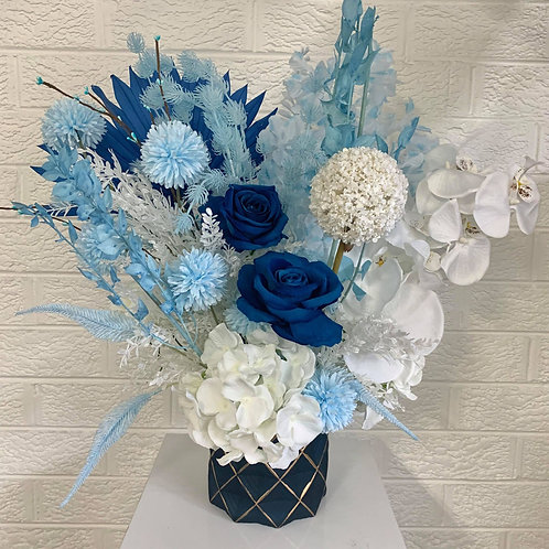 Luxury Blues in Blue and Gold Vase
