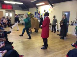 Is Robin Hood doing a hornpipe dance