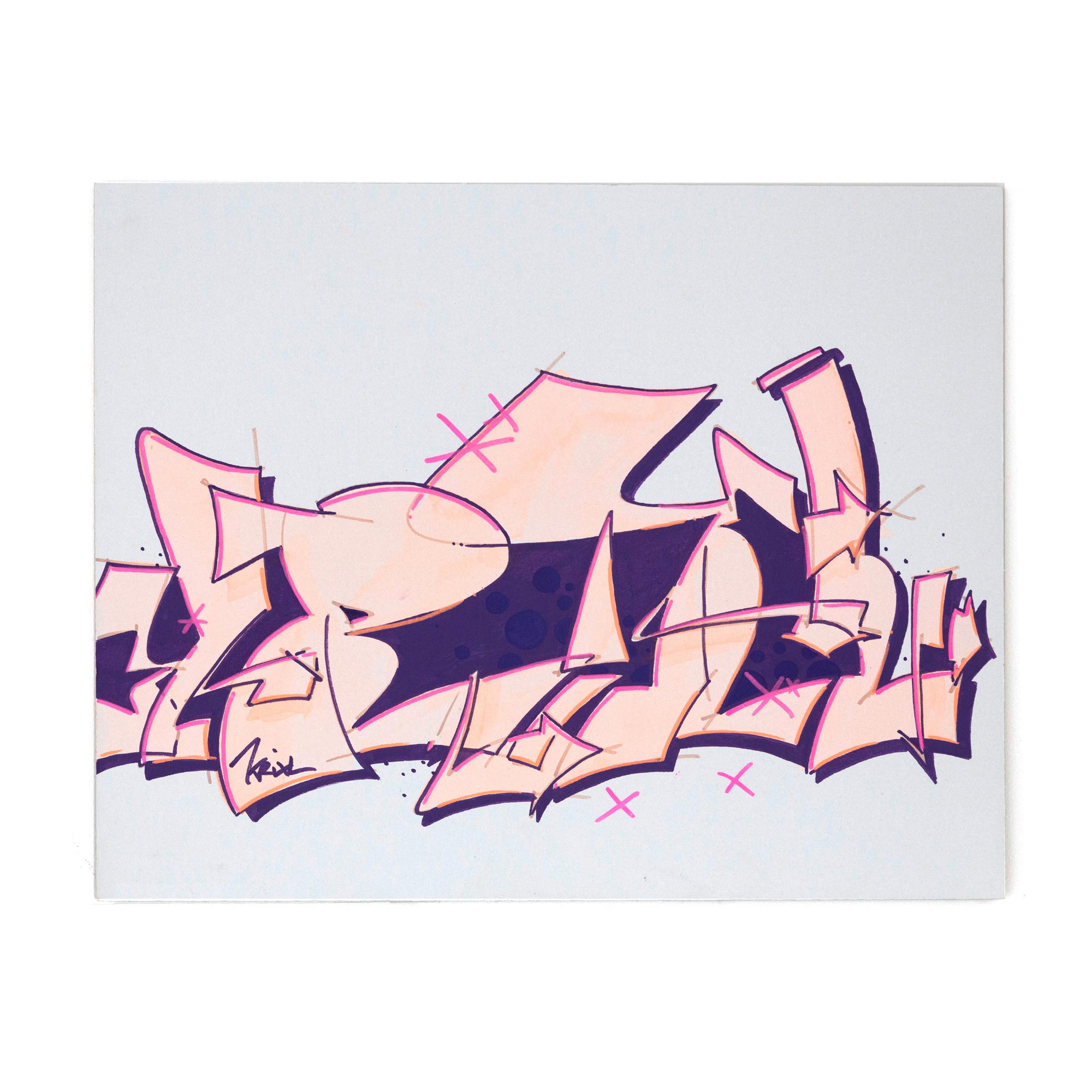 KRIXL SKETCH translucent pink purple