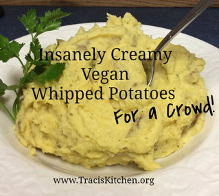 Insanely Creamy Vegan Whipped Potatoes for a Crowd VIDEO