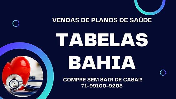 PLANOS DE SAUDE NA BAHIA - TABELAS