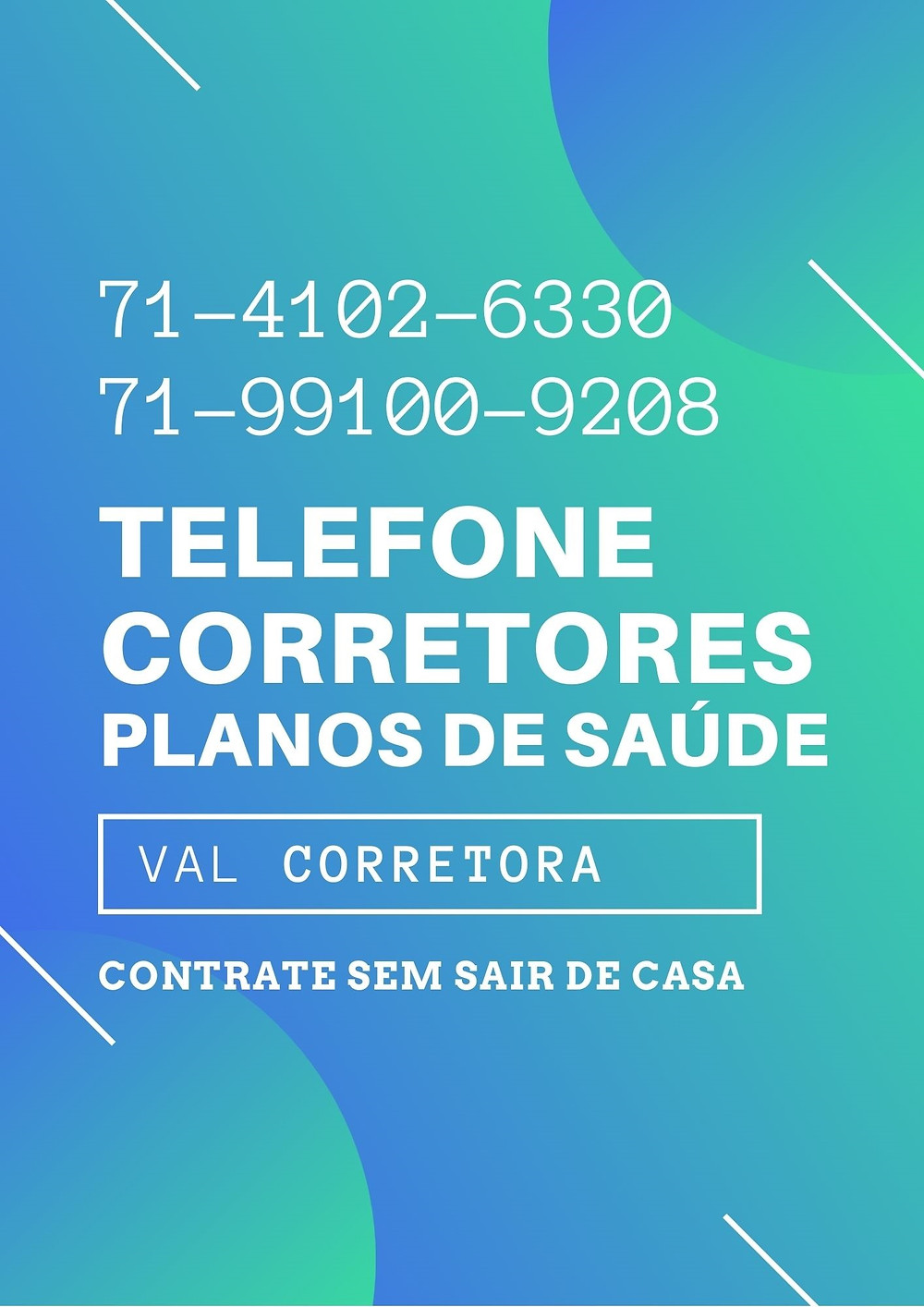 Telefone para informações sobre Planos de Saúde