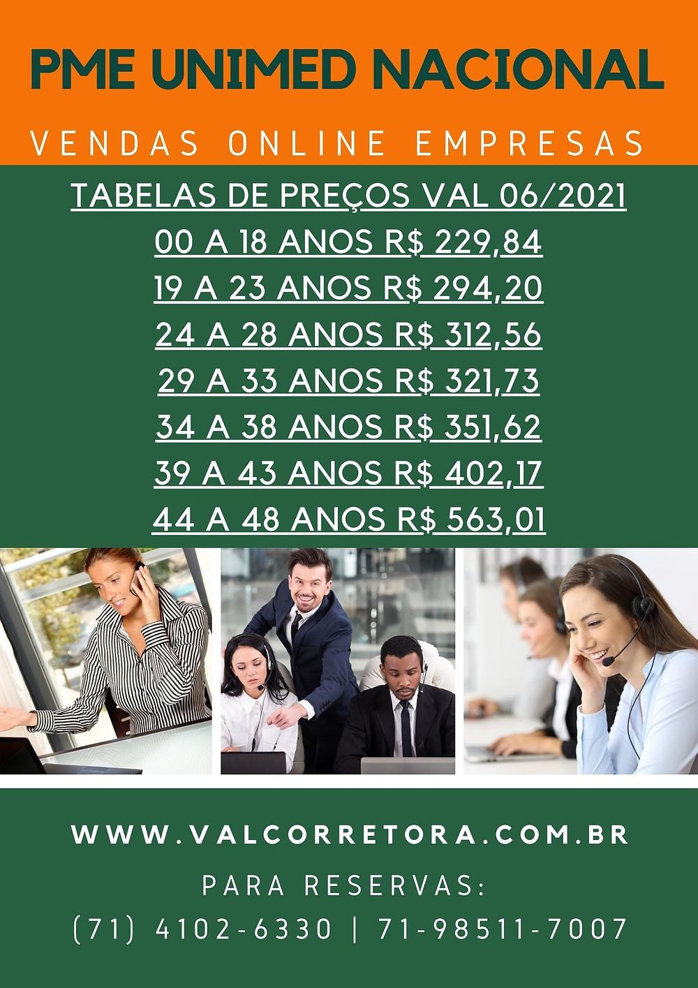 Tabelas PME Unimed o melhor custo x benefícios