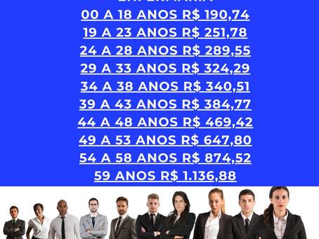 71-3140-2400 | 54 a 58 anos | Tabelas de Preços HapVida - Salvador