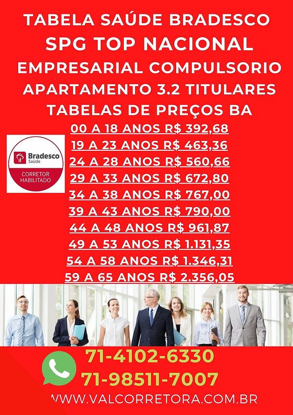 3.2 SPG COMPULSORIO BRADESCO SAUDE, TABELAS BRADESCO SAUDE EMPRESARIAL BAHIA
