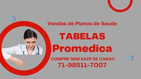 Tabelas Promedica plano de saude individual