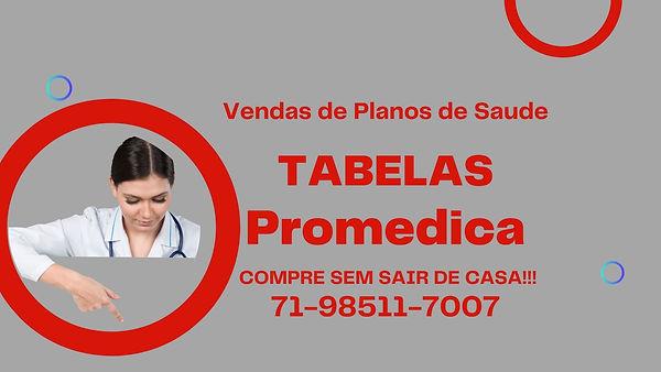 Plano de Saude Individual  Tabelas Promedica