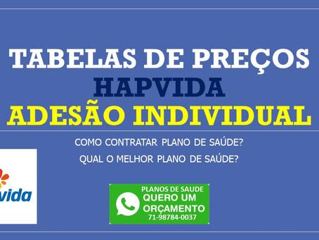 54 a 58 anos | Tabelas de Preços HapVida - Adesão - Salvador