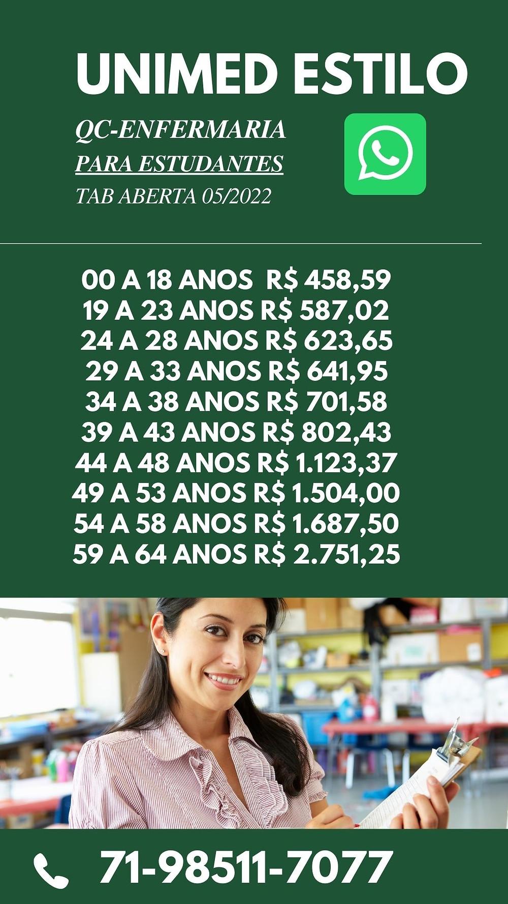Tabelas de Preços plano de Saude na Bahia - HapVida Individual - BA