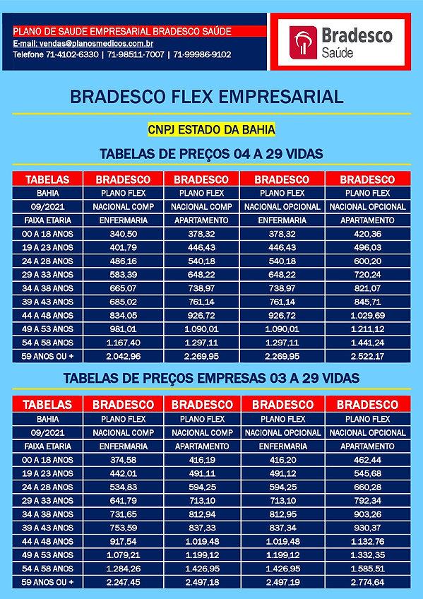 TABELA COMPARATIVA DE PREÇOS PLANOS DE SAUDE EMPRESARIAIS SAUDE BRADESCO EMPRESAS DA BAHIA