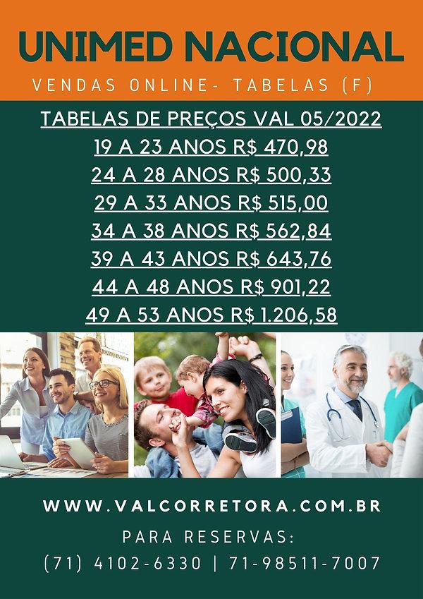 NAC TABELA DE VALORES UNIMED
