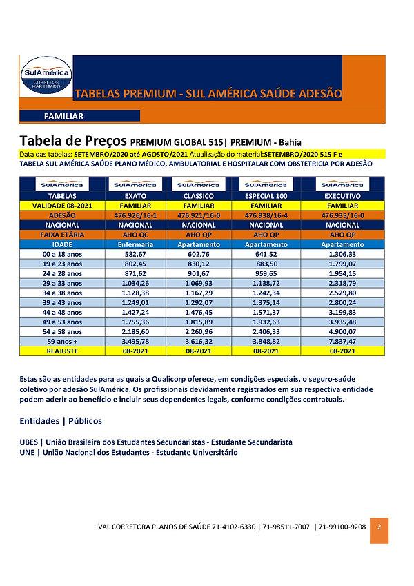 TABELA DE PRECOS SUL AMERICA SAUDE PARA ESTUDANTE