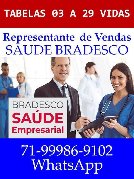 TABELAS 03 A 29 VIDAS SAUDE BRADESCO, Planos Médicos paraEmpresas COM CNPJ DESÃO PAULO