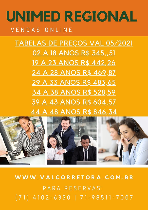 UNIMED CLASSICO REGIONAL TAB, TABELAS DE PREÇOS PLANOS DE SAUDE