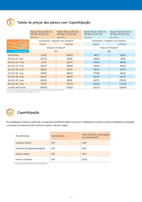 TAB_HAPVIDA, Tabelas de preços plano de saúde Hapvida Clube de Saúde