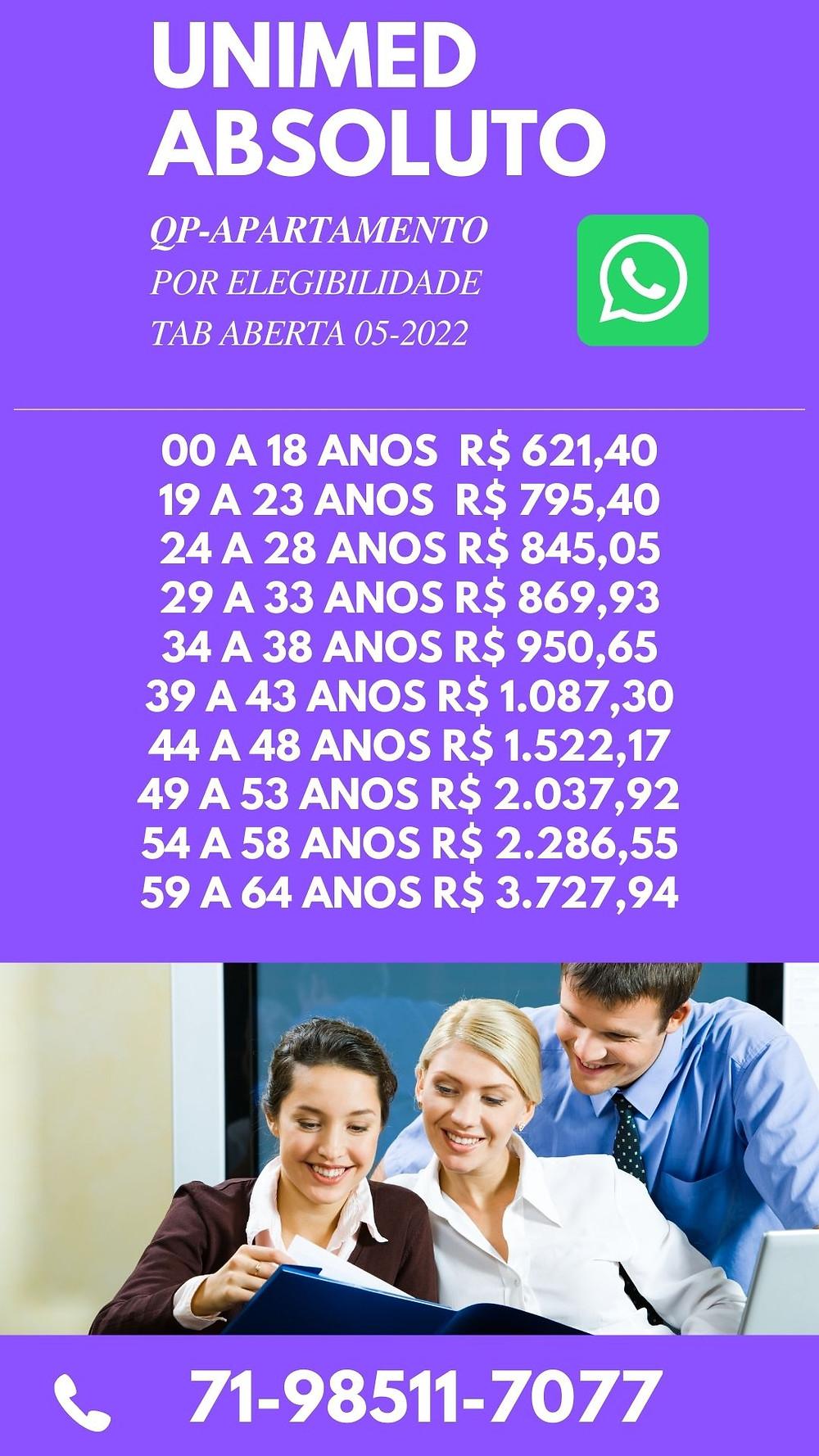 Tabelas de Preços plano de Saude na Bahia - Unimed Central Nacional Allcare - BA